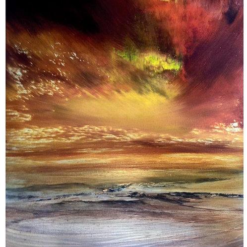 """""""Where the Sky Meets the Sea""""  Original Oil"""