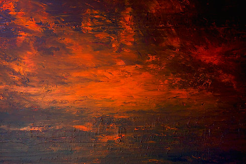 """RED SKY""                    Original Painting"