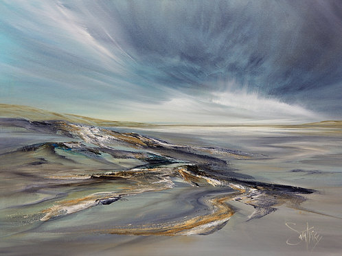 BEACHSCAPE BLUE  Original Oil Painting