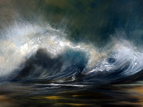 Wild Waves II   ORIGINAL OIL PAINTING