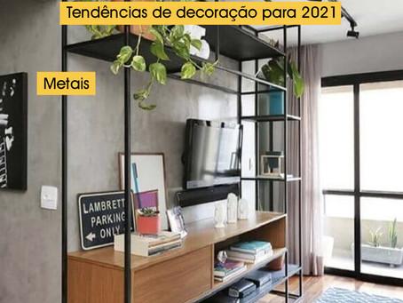 Tendências para decoração em 2021