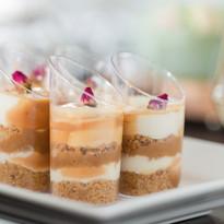 Salted caramel individual cheesecakes