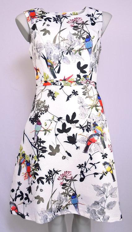 Smashed Lemon Bird Pattern Dress