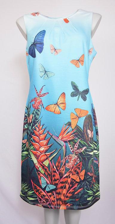 Smashed Lemon Butterfly Dress