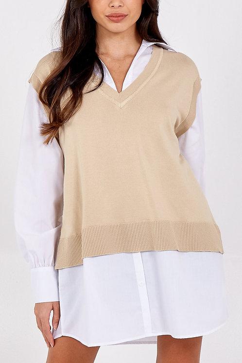 Ella Bellini V-Neck Knit Vest Top