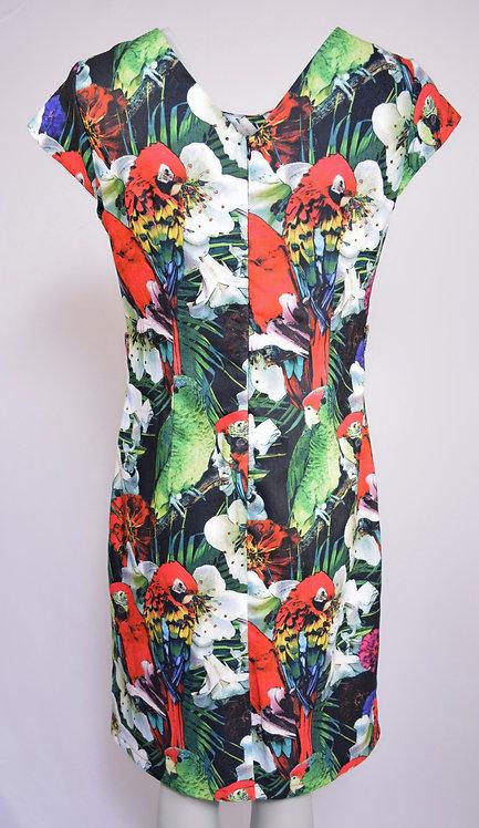 Smashed Lemon Parrot Design Dress