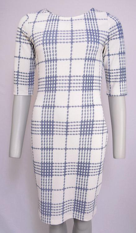 Smashed Lemon Geometric Design Dress