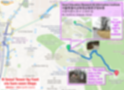 Map to N Seoul Tower - by foot via Sam-steps | KoreaToDo