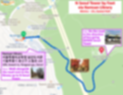 Map to N Seoul Tower - by foot via Namsan Library | KoreaToDo