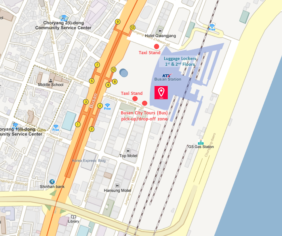 Getting to Busan Station & Location Map   South Korea