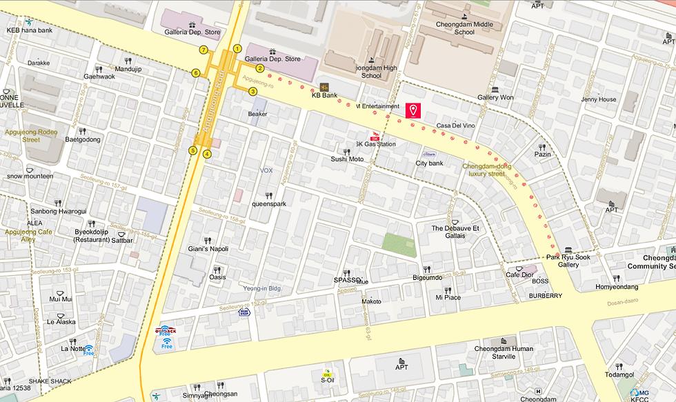 Cheongdamdong Luxury Fashion Street getting there KoreaToDo