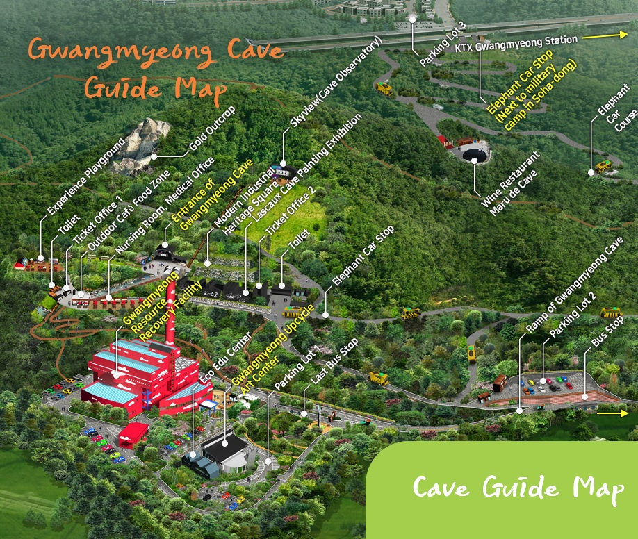 Guide Map of Gwangmyeong Cave | South Korea