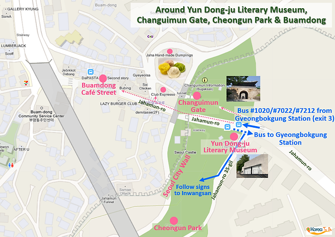 Inwangsan Mountain - Around Yun Dong-ju Literary Museum, Changuimun Gate, Cheongun Park & Buamdong | KoreaToDo