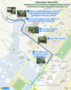 Walking Route from Gwacheon Hyanggyo (Hiking Trail Exit) to Government Complex Gwacheon Station