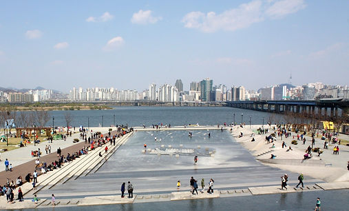 Yeouido Hangang Park - Cascade & Getting There | Seoul, South Korea