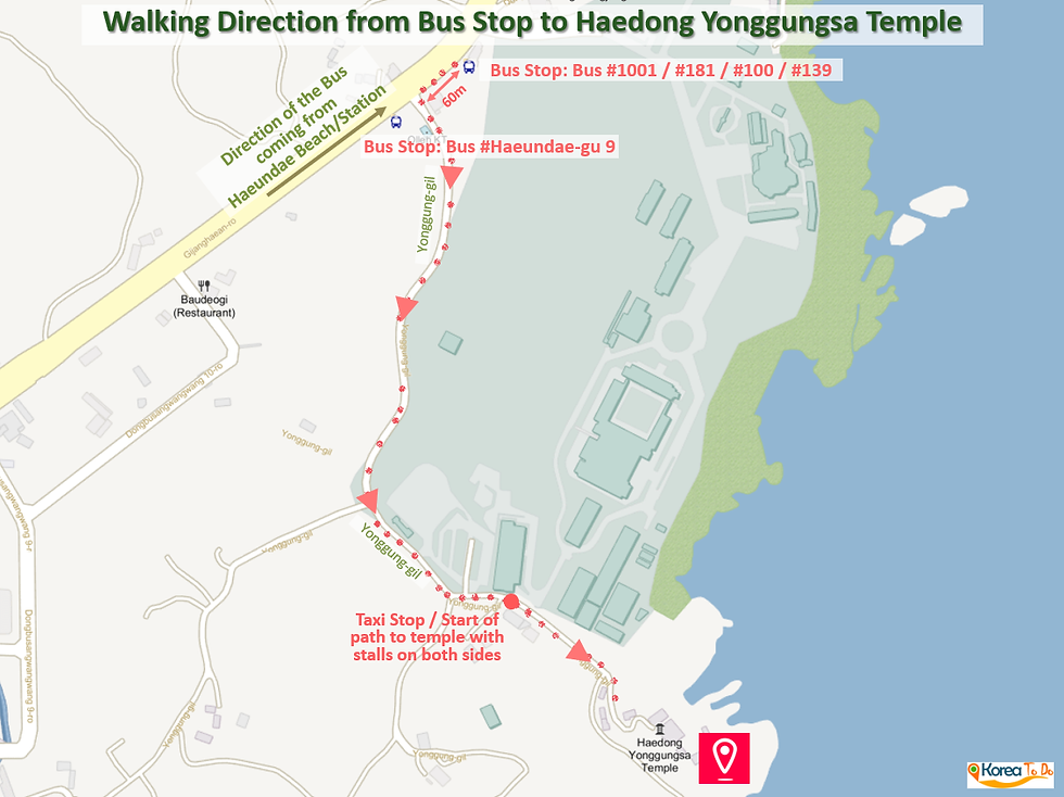Getting to Haedong Yonggungsa Temple by Bus & Location Map | Busan, South Korea
