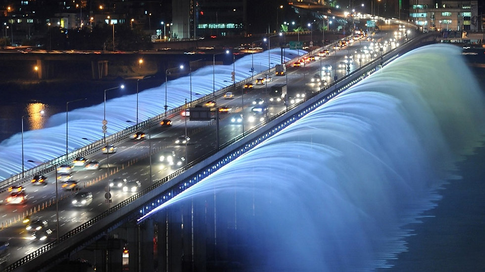 Banpo Bridge Moonlight Rainbow Fountain - Timings & Getting There | Seoul, South Korea