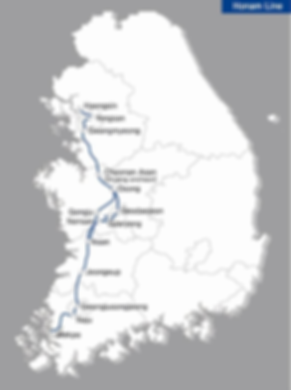 KTX - Honam Line Map | KoreaToDo