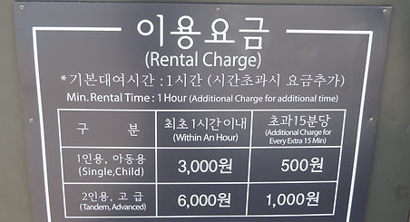 Yeouido Hangang Park - Bicycle Rental Charges | KoreaToDo