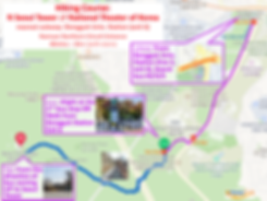 Map of Hiking Course - N Seoul Tower to/from National Theater of Korea