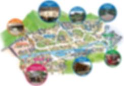 Tourist Map of Korean Folk Village | South Korea
