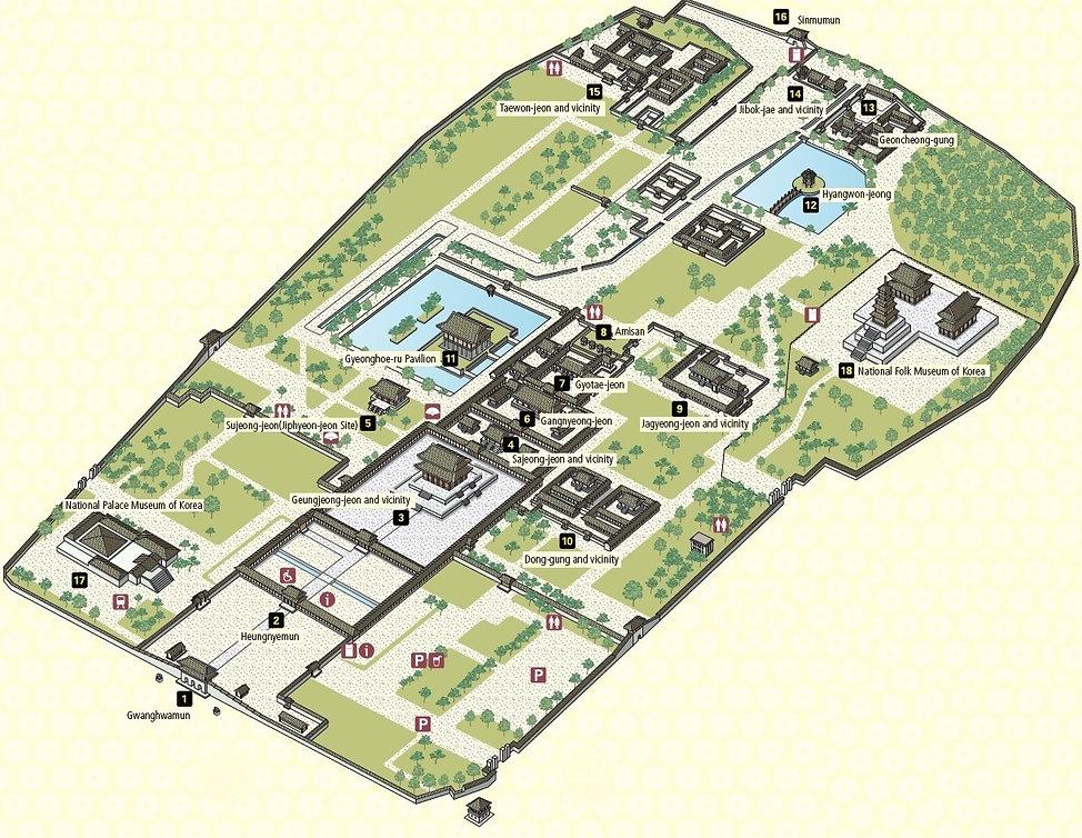 Map of Gyeongbokgung Palace | Seoul, South Korea