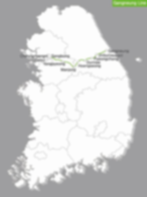 KTX - Gangneung Line Map | KoreaToDo