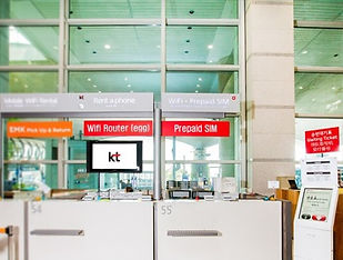 KT Mobile Counter at Incheon International Airport | Seoul, South Korea