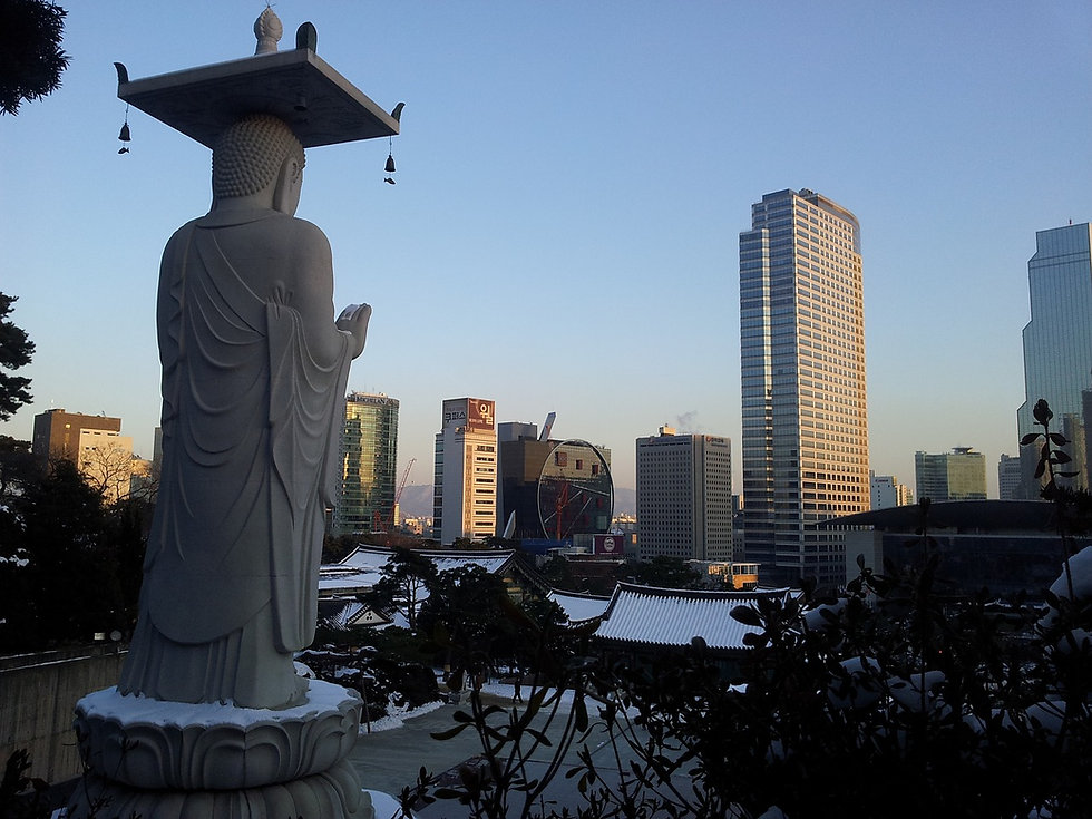 Bongeunsa Temple & getting there | Seoul, South Korea
