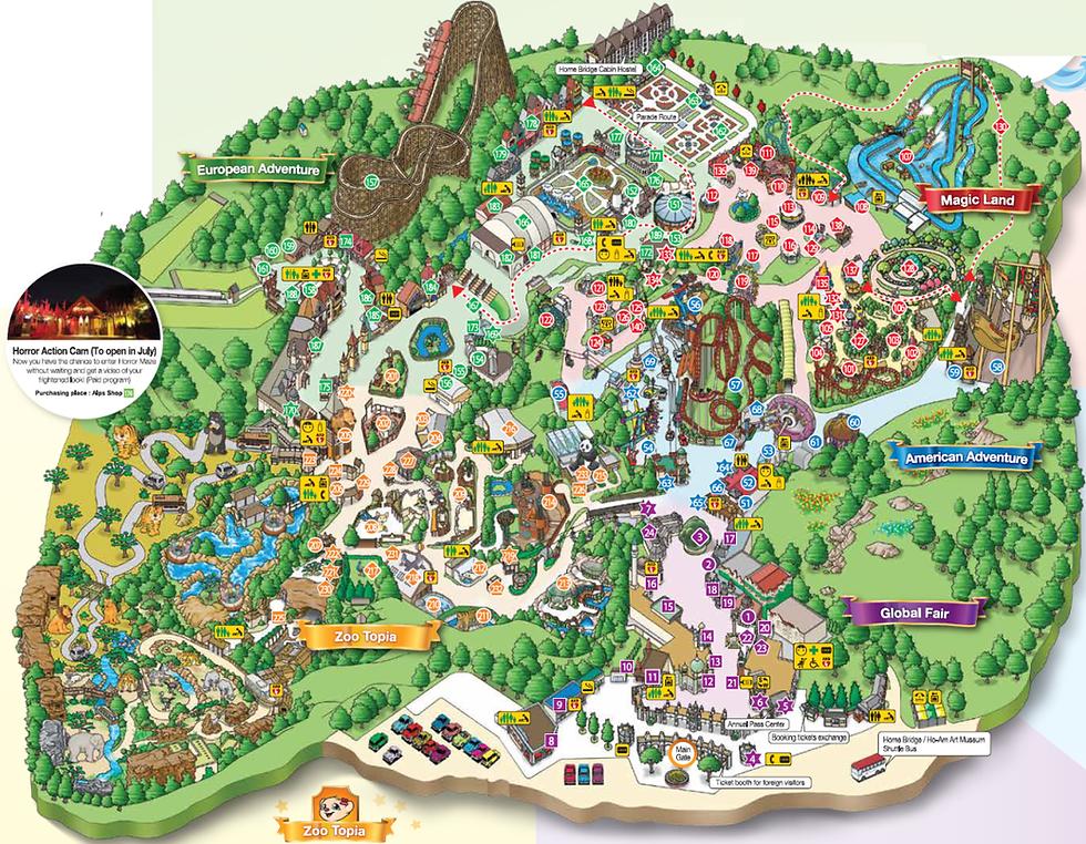 Tourist Map of Everland | South Korea