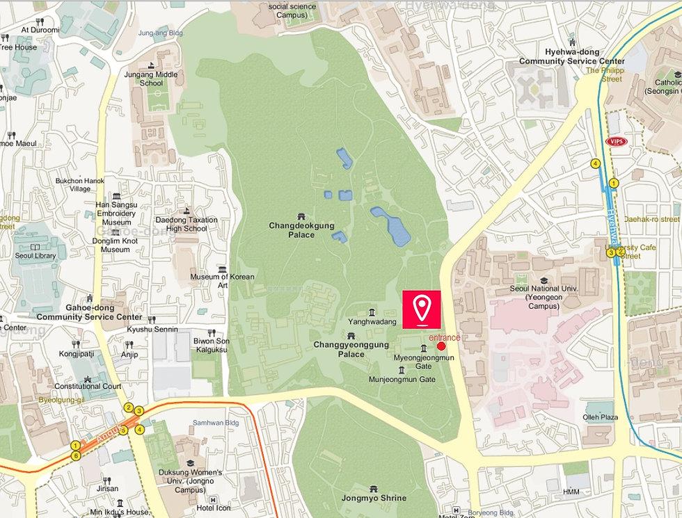 Getting to Changgyeonggung Palace & Location Map | Seoul, South Korea