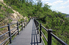 Ansan Jarak-gil Trail - Wooden Deck Path