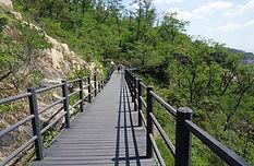 Ansan Jarak-gil Trail - Wooden Deck Path
