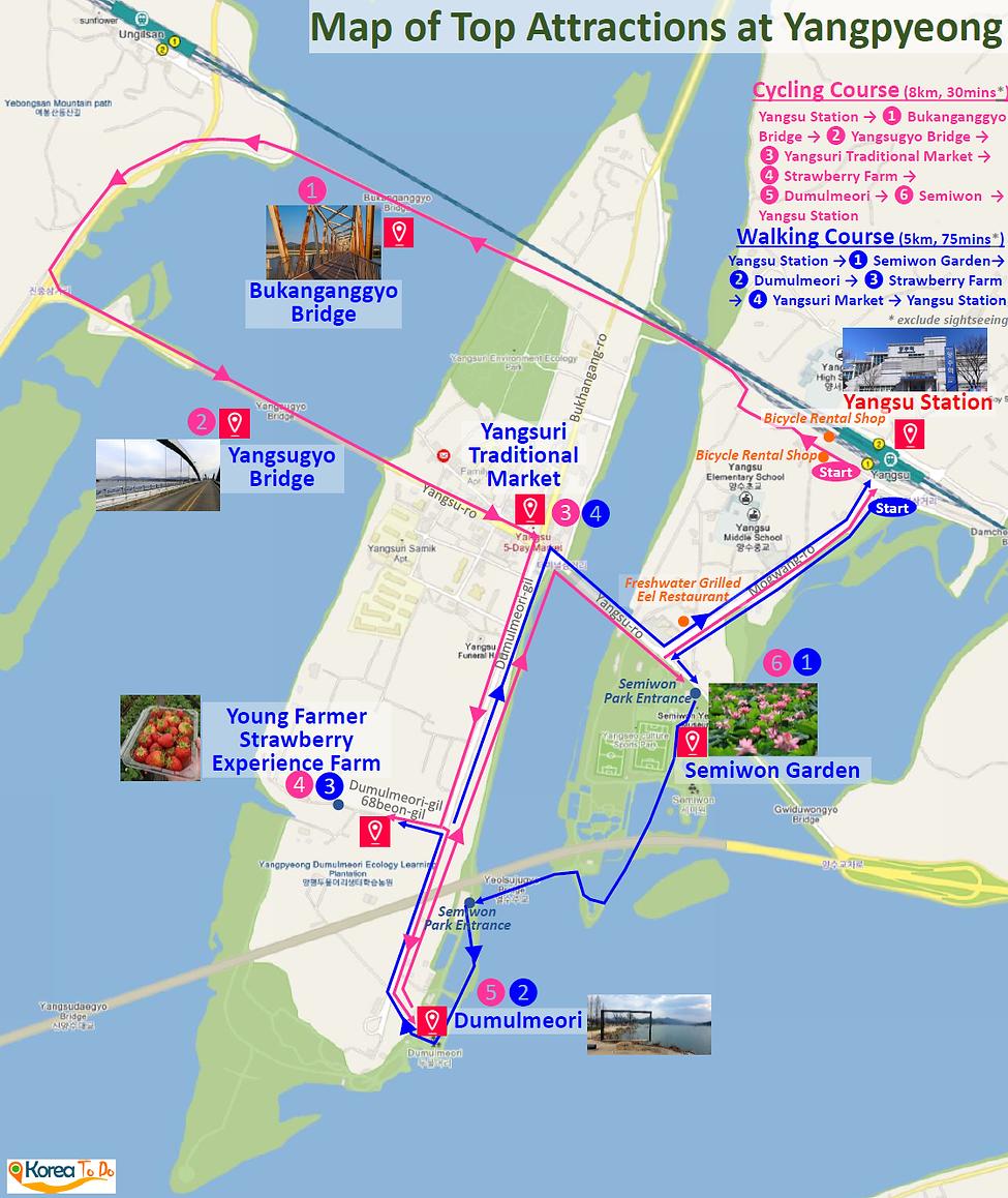 Yangpyeong - Map of Dumulmeori and Semiwon Garden | KoreaToDo