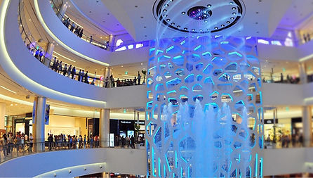 Lotte Department Store - World's largest indoor musical water fountain & Getting There | Busan, South Korea