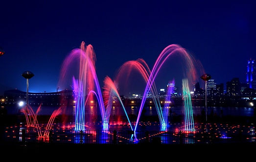 Ttukseom Hangang Park - Music Fountain
