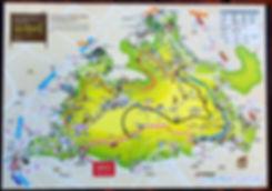 N Seoul Tower - Map of Namsan Trails