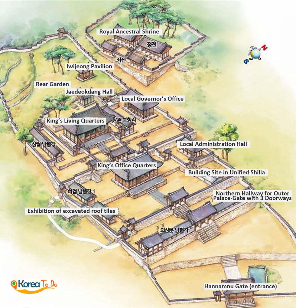 Namhansanseong Provincial Park - Map of Namhansanseong Haenggung (Palace) | Gwangju, South Korea