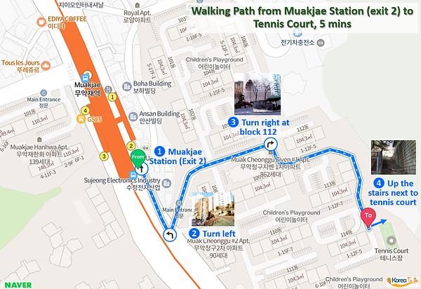 Inwangsan Mountain - Walking Path from Muakjae Station (exit 2) to Tennis Court | KoreaToDo