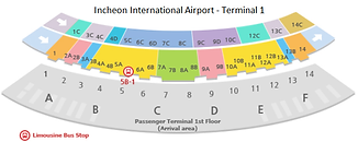 Incheon International Airport (T1) - Airport Bus Guide Map | Essential Travel Tips on South Korea