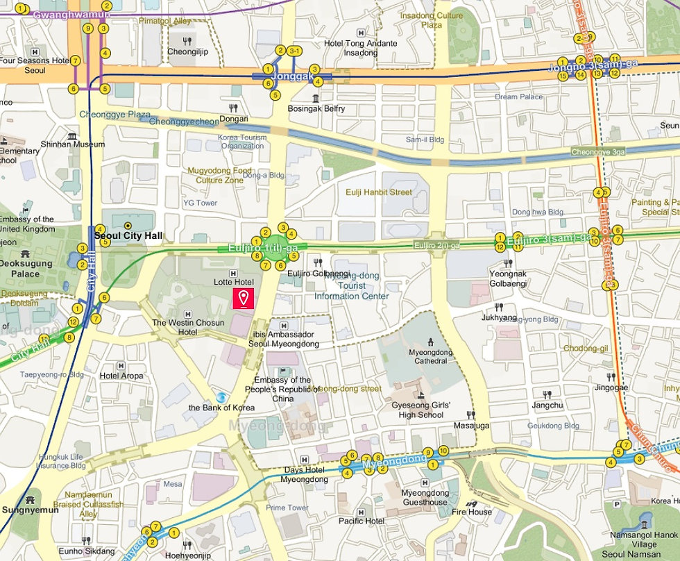 Getting to LOTTE Department Store (Main Branch) & Location Map | Seoul, South Korea
