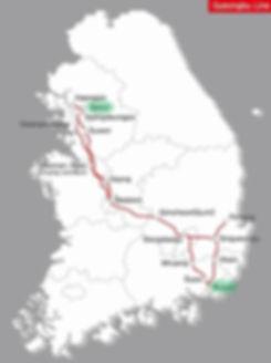 Seoul to Busan - KTX Train Network Map | KoreaToDo