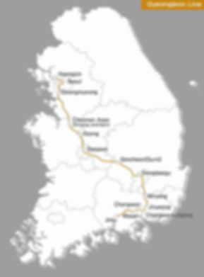 KTX - Gyeongjeon Line Map | KoreaToDo