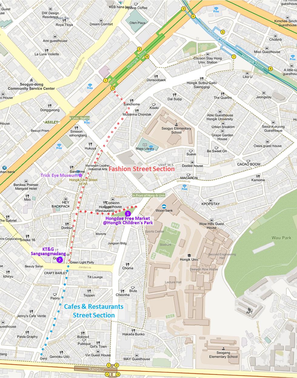 Hongdae Hongik University Street getting there KoreaToDo