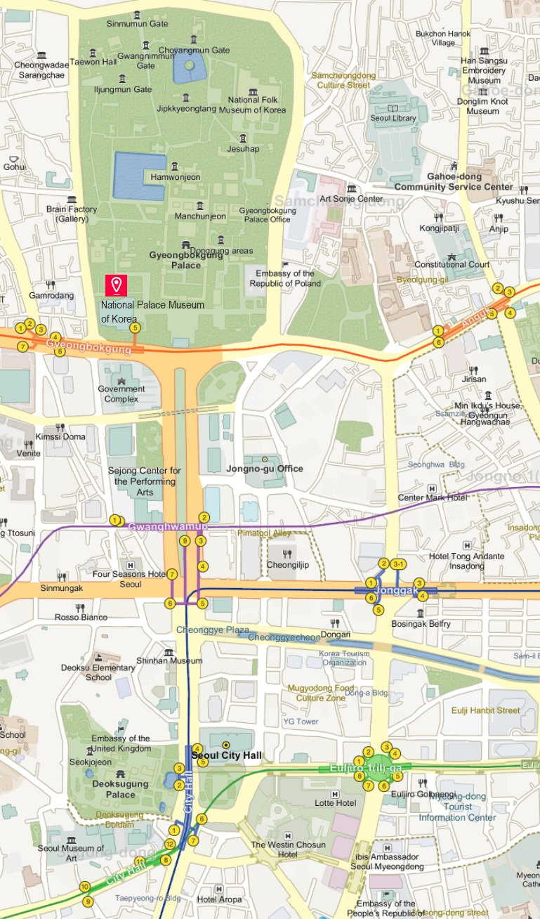 Getting to National Palace Museum of Korea & Location Map | Seoul, South Korea