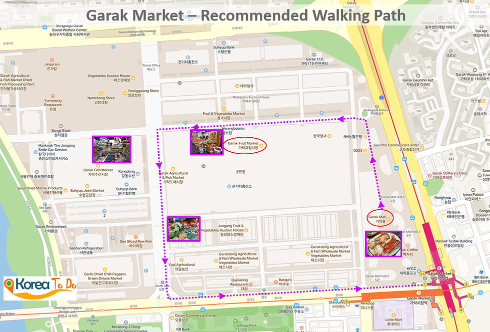 Garak Market - Location Map & Getting There | KoreaToDo