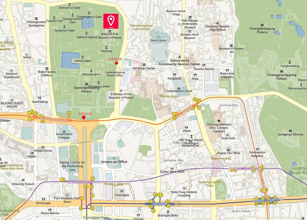 Getting to National Folk Museum of Korea & Location Map | Seoul, South Korea
