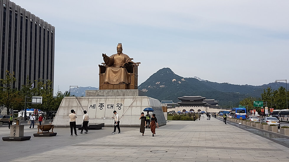 Gwanghwamun Square - Statue of King Sejong | Seoul, South Korea