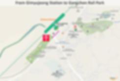 Location Map of Gimyujeong Station (subway) to Gangchon Rail Park | KoreaToDo