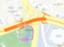 Map of Namsan Shuttle Bus 02, 03, 05 Bus Stop from Dongguk Station (line 3)   KoreaToDo